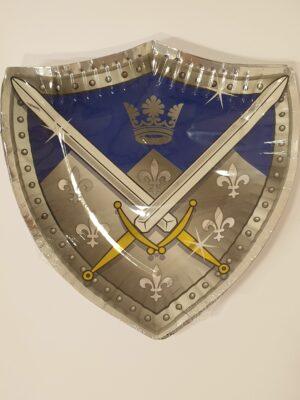 Bordjes Ridders 25 cm 8 stuks