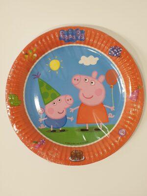 Bordjes Peppa Pig 23 cm 8 stuks