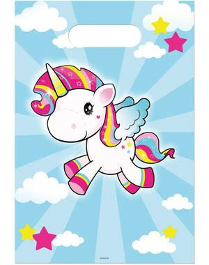 Uitdeelzakjes Unicorn 8 stks