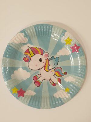 Bordjes Unicorn 23 cm 8 stuks