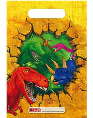 Uitdeelzakjes Dino 6 stks