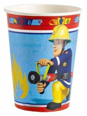 bekers brandweerman Sam 8 stks