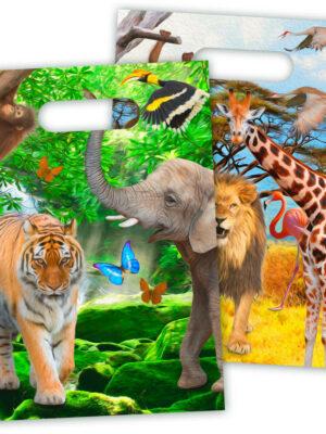 Uitdeelzakjes Safari 8 stks