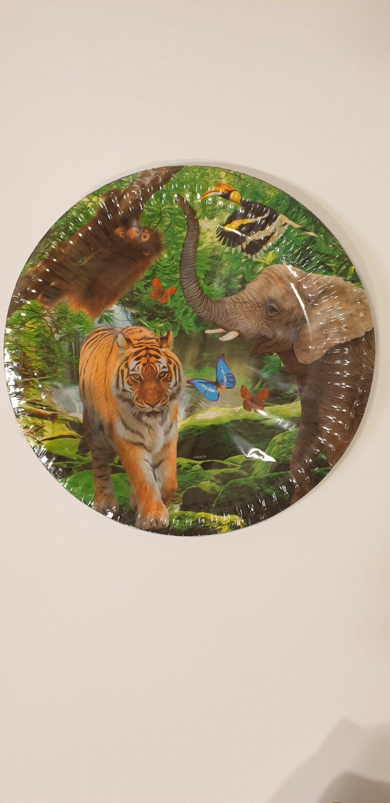 Bordjes Safari 23 cm 8 stuks