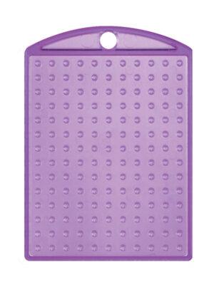 Pixel medaillon transparant paars met ketting