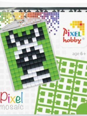 Pixel sleutelhanger zebra