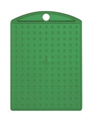 Pixel medaillon transparant groen met ketting