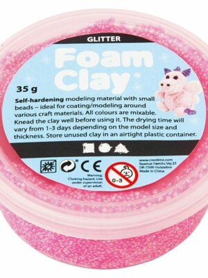 Foam Clay Glitter roze 35 gr