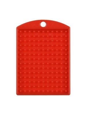 Pixel medaillon rood met ketting