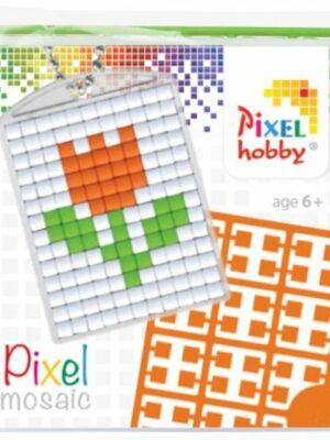 Pixelsleutelhanger Tulp