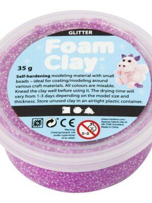Foam Clay glitter paars
