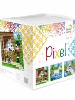 Pixelkubus Paard