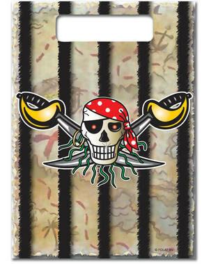 Uitdeelzakjes Red Pirate 8 stks