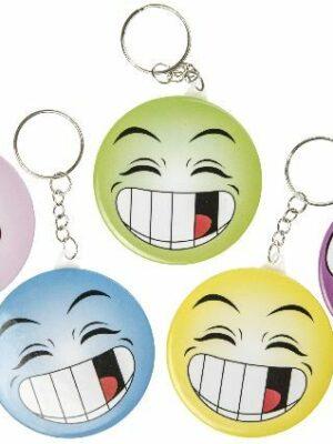 Smiley met spiegeltje sleutelhanger