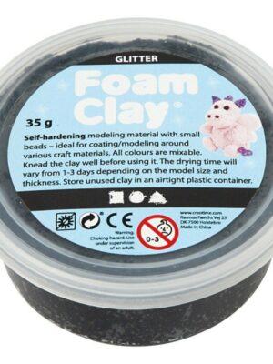 Foam Clay glitter zwart