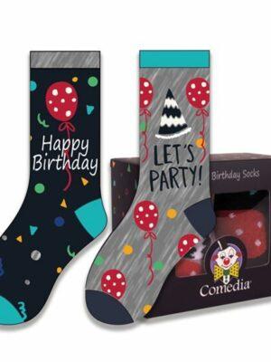 Happy Birtday sokken multi
