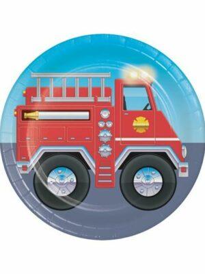 Bordjes Brandweer 8 stks