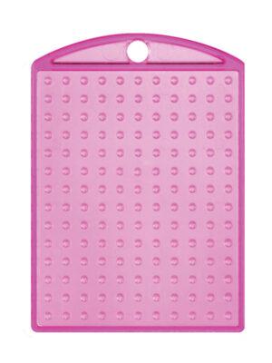 Pixel medaillon transparant roze met ketting