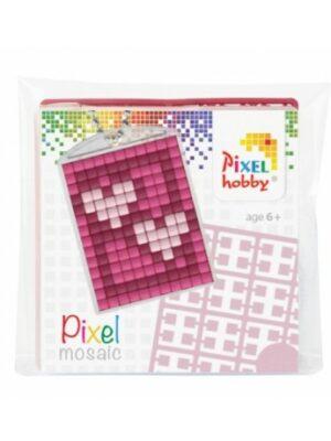 Pixelsleutelhanger Hartjes
