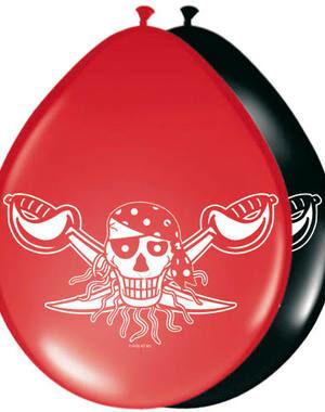 Ballon Red Pirate 8 stks