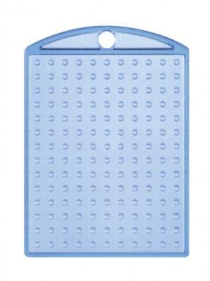 Pixel medaillon transparant blauw met ketting