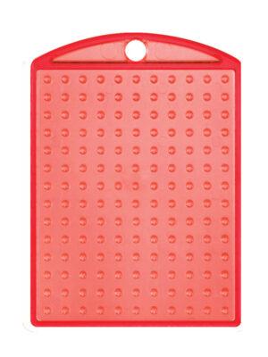 Pixel medaillon transparant rood met ketting