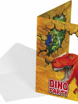 Uitnodiging Dino 6 stks