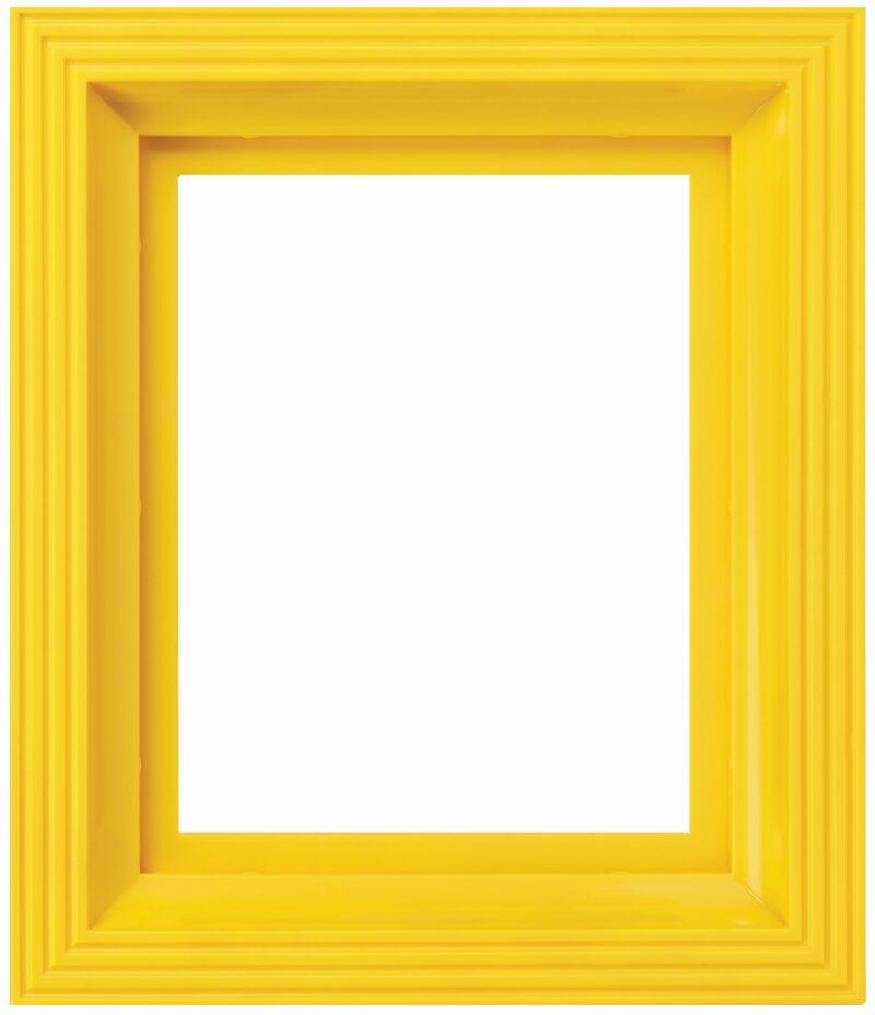 Kunststof lijst geel