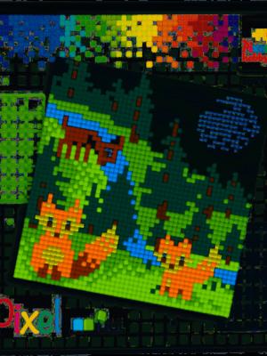 Pixelset Bosdieren