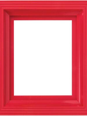 Kunststof lijst rood