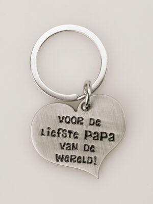 Papa sleutelhanger hart