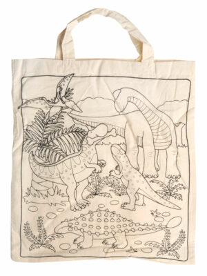 Dino inkleur tas