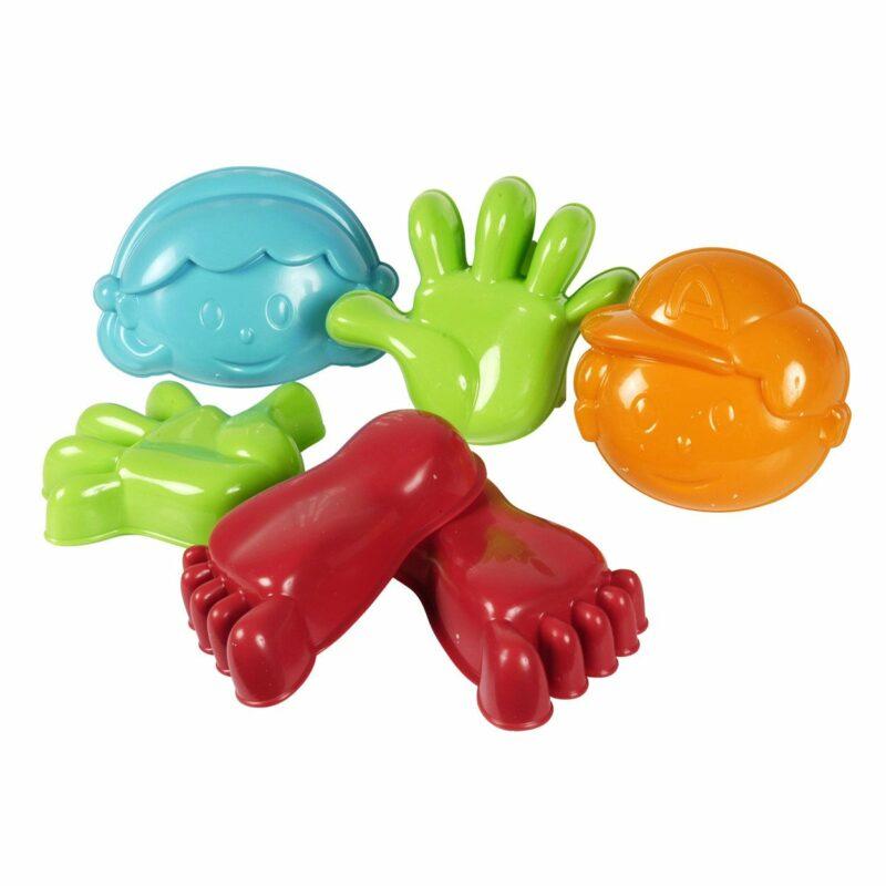 Hand,voet- gezicht zandvormen