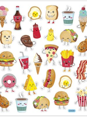 Stickers fast food