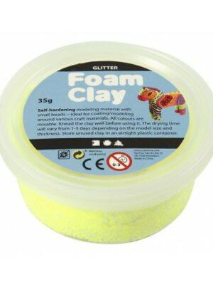 Foam Clay glitter geel