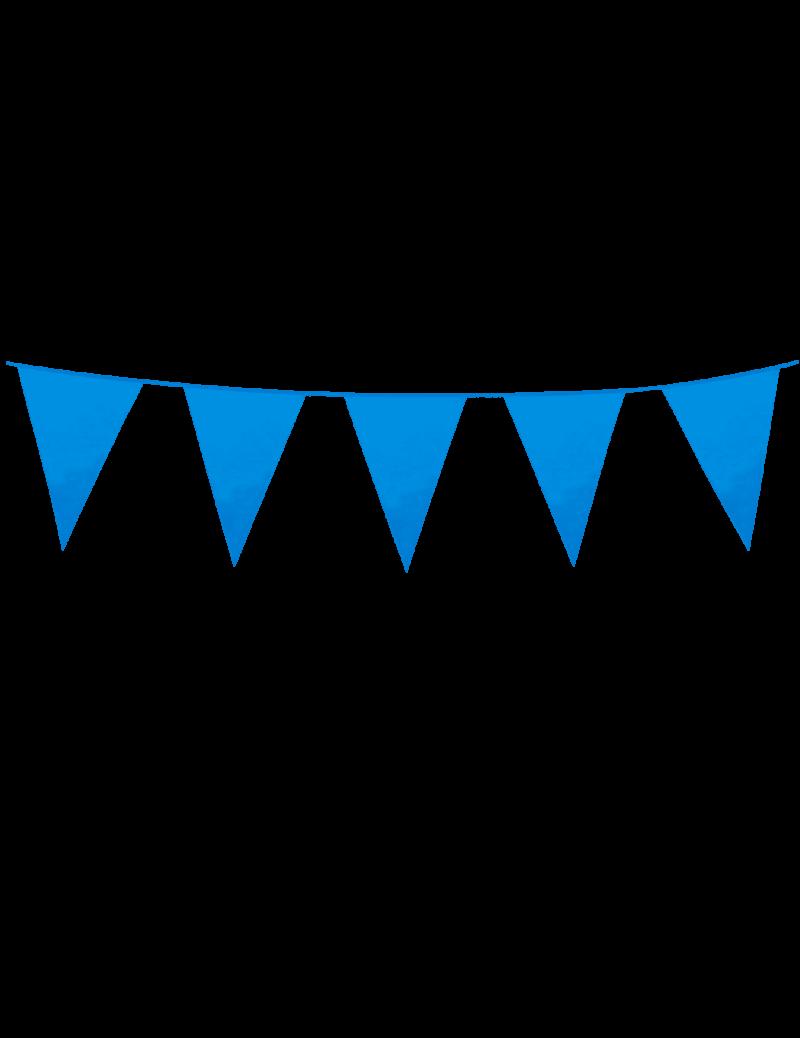 Mini vlaggenlijn baby-blauw
