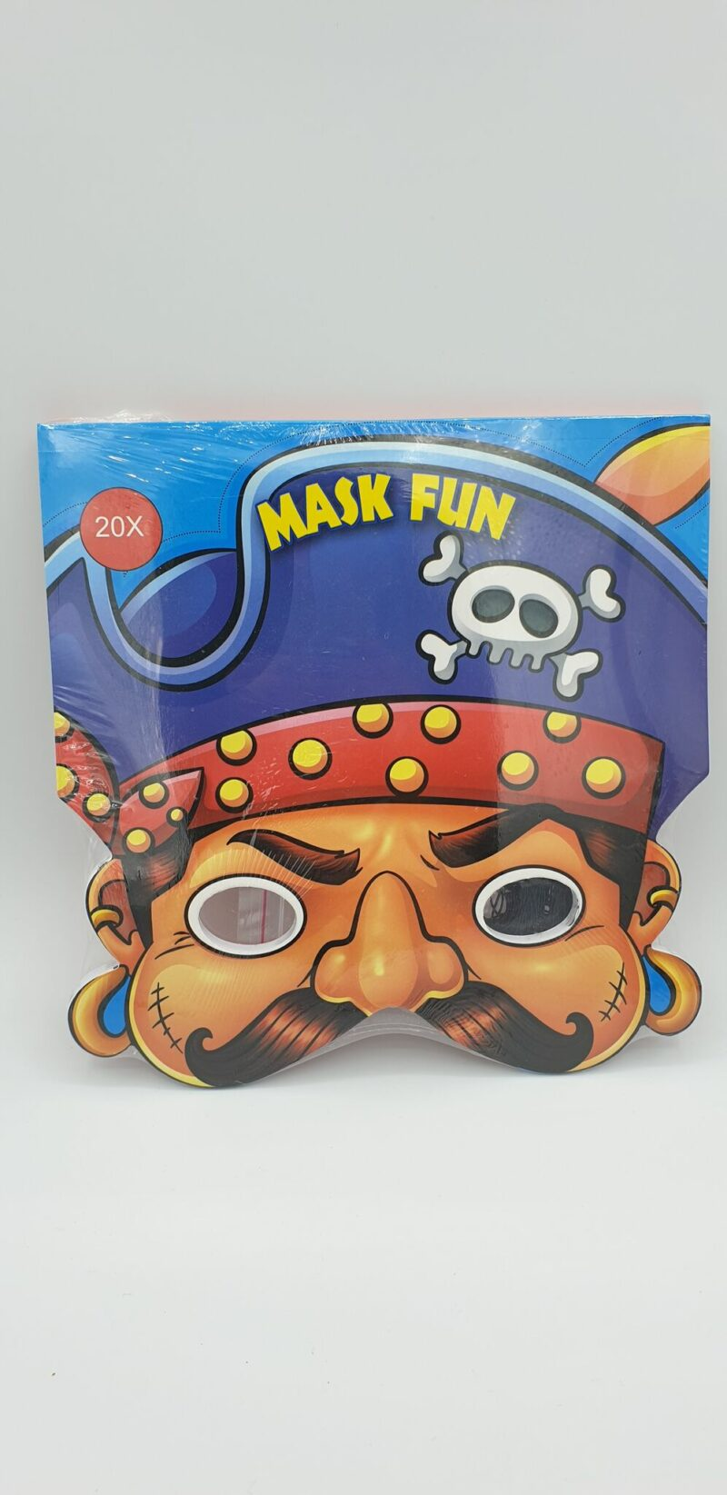 Piraten maskers 20 stks