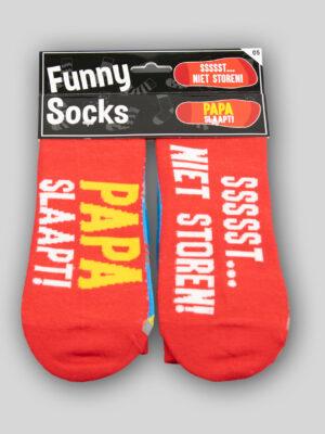 Funny Socks Papa slaapt
