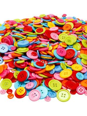 Gekleurde knopen 100 gr