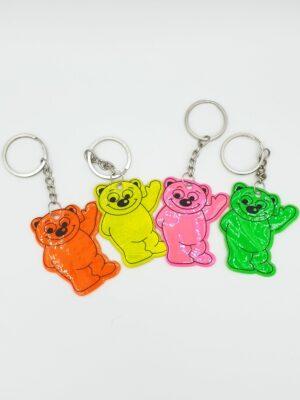 Reflecterende beer sleutelhanger