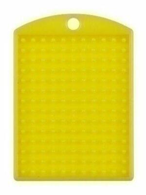 Pixel medallion geel met ketting