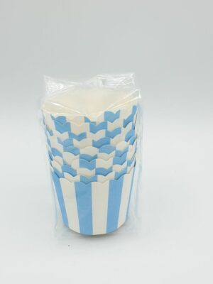 Cupcake streep blauw 10 stks