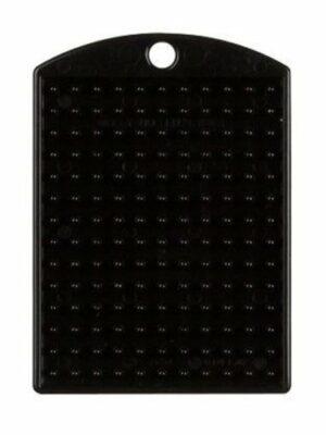 Pixelmedaillon zwart met ketting