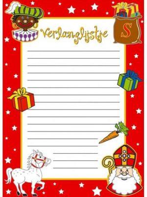 Sinterklaas verlanglijstje 6 vel