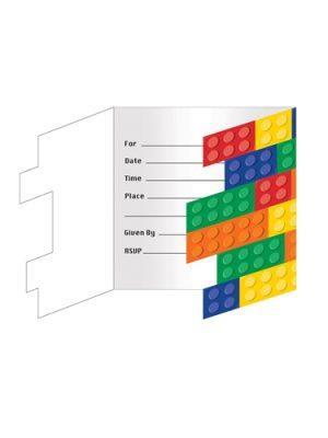Uitnodiging Lego 8 stks