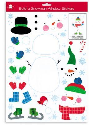 Sneeuwpop raamsticker