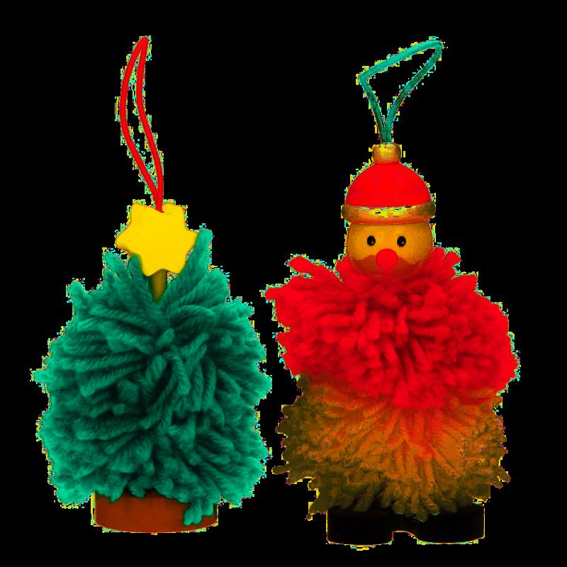 Pom Pom kersthangers