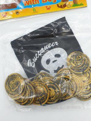Piraten munten met zakje