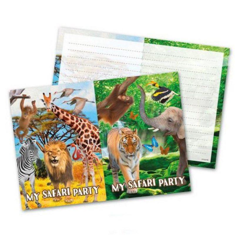 Safari Uitnodiging 8 stks