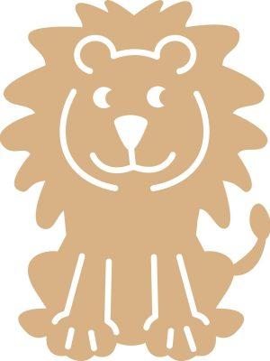MDF Leeuw 24x18,8cm